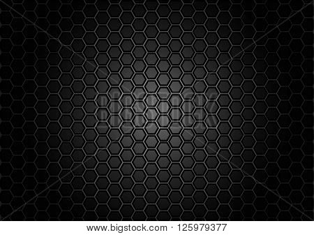abstract pattern hexagon on black color background