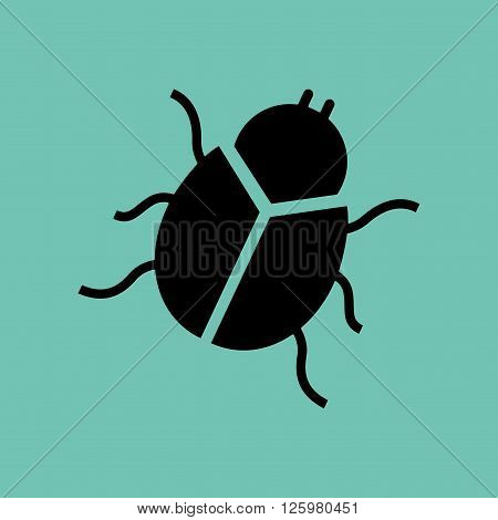bug icon design, vector illustration eps10 graphic