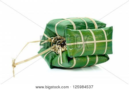 Fermented Ground Pork In Banana Leaf Packing