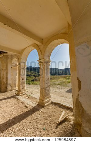 Arches Of Derelict Agios Georgios Church, Davlos Cyprus