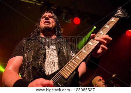 BRISBANE, AUSTRALIA - 15 APRIL 2016: Trivium live at Max Watts in Brisbane