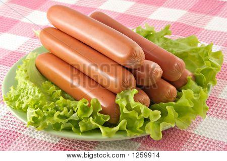 appetitlich Schweinefleisch Würstchen