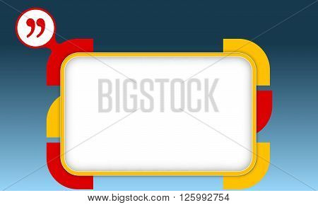 Vector box to fill your text and quotation mark