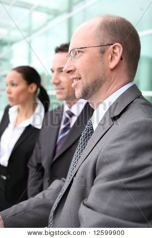 Group of business people in the lobby