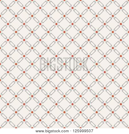 Seamless pattern. Modern stylish geometric texture with repeating rhombuses dots. Vector contemporary design