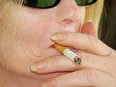 pic of smoking woman  - close - JPG
