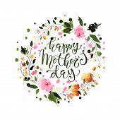 Happy Mothers Day Lettering Typography Poster poster