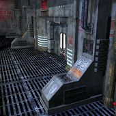 picture of starship  - dark and scary place in a scifi setting - JPG