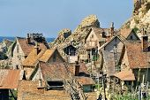 image of popeye  - film set of popeye village in malta - JPG