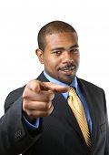 Постер, плакат: Бизнесмен указывая палец