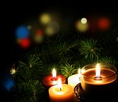 picture of boll  - Christmas Candles - JPG