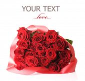 picture of red rose flower  - Red Roses Bouquet - JPG
