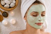stock photo of facials  - Spa Facial Mask - JPG