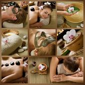 foto of black woman spa  - Spa Collage - JPG