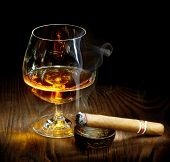 foto of cigar  - Cigar And Cognac - JPG
