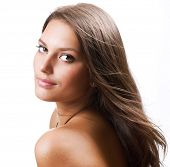 picture of beauty nature  - Beautiful Healthy Girl portrait - JPG