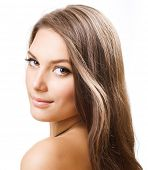image of hair motion  - Beautiful Girl with long hair - JPG