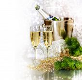 foto of new years celebration  - Champagne - JPG