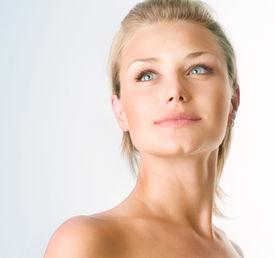 stock photo of beautiful woman  - Beautiful Girl face - JPG