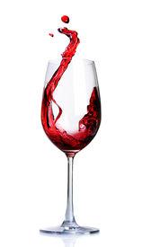 stock photo of wine-glass  - Red Wine Abstract Splashing - JPG