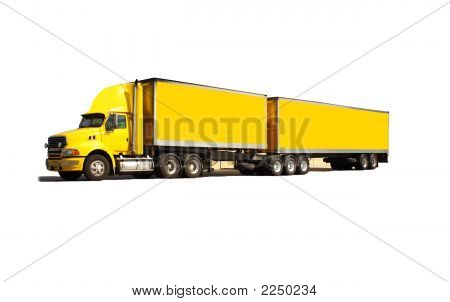 Semi Truck Isolated