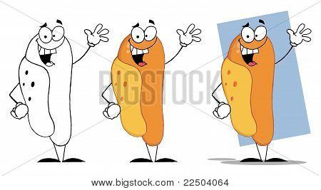 Waving Hot Dogs