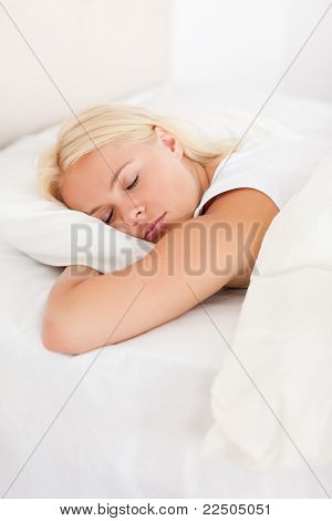 Portrait Of A Peaceful Woman Sleeping