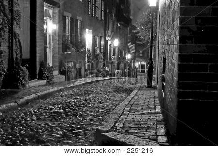 Velha rua de Boston