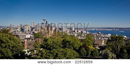 Sweeping view of Seattle