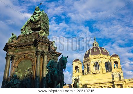 Maria Theresia Statue Low Angle