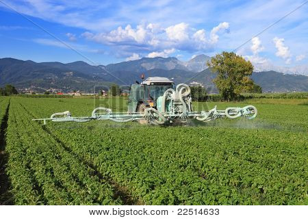 Agriculture, Tractor And Pesticide