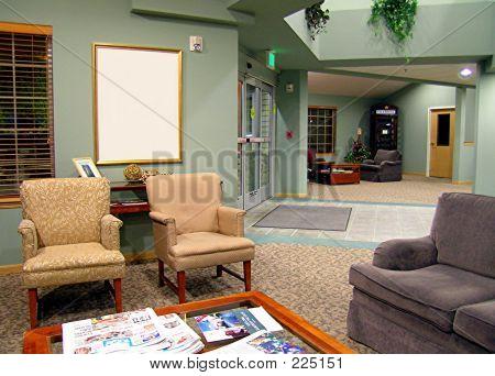 Lobby With Blank Frame