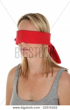 Blindfolded Blond Girl