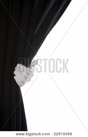 Black Curtain hand