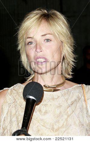 LOS ANGELES - JUN 14: Sharon Stone at the Rock-N-Reel event held at Culver Studios in Los Angeles, California on June 14, 2009