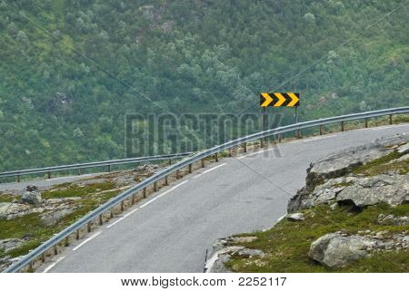 Sharp Curve Sign