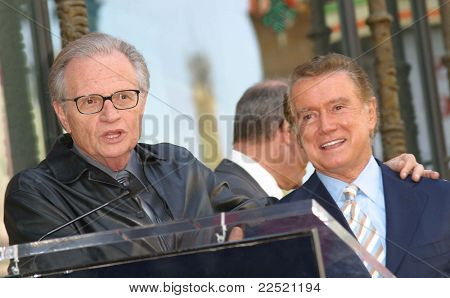 LOS ANGELES - APR 10: Larry King; Regis Philbin at a ceremony where Regis Philbin receives the 2222th star in Los Angeles, California on April 10, 2003