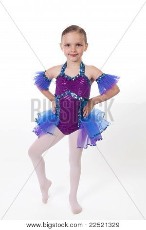Young Girl in Dancing Costume