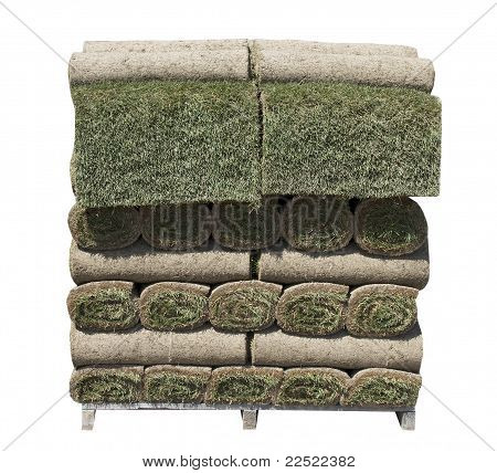 grüne Gras Grassode gestapelt