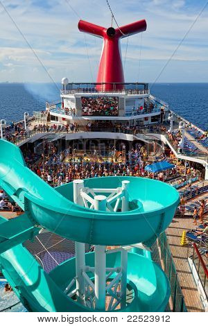 Carnival Freedom Passengers Performing A Group Dance