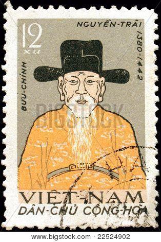 Sello de Vietnam Nguyen Trai