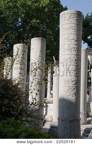 The tombstones belong to Ottoman period