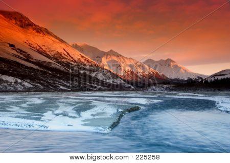 Sunset Colors Of The Alaska Range