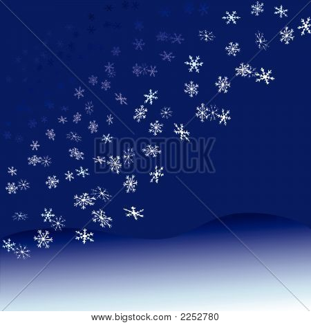 Nightfall Snowflakes Snowfall.Eps