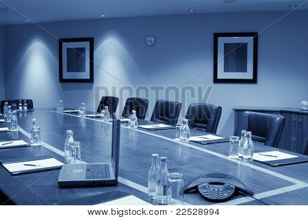 Conference Hall Interior, Monochromatic