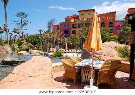 Open-air Restaurant  At Luxury Hotel, Tenerife Island, Spain