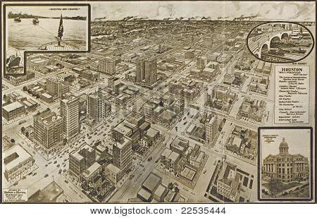 C 1910 - Houston--una ciudad moderna.