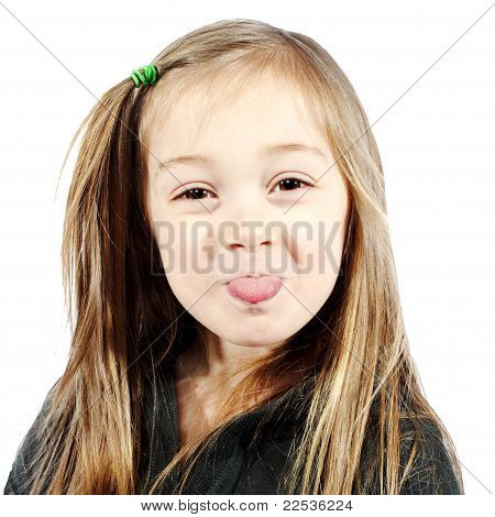Young Little Girl Making Silly Face