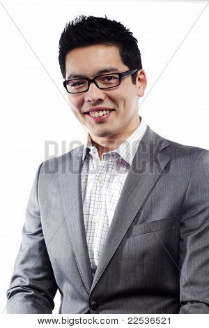 Young Asian Man In Business Attire