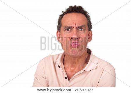 Annoyed Man Sticking Out Tongue
